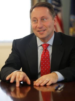Westchester County Executive Rob Astorino talks about the state of Westchester during an exclusive interview with The Journal News at his office in White Plains on Jan. 5, 2017.