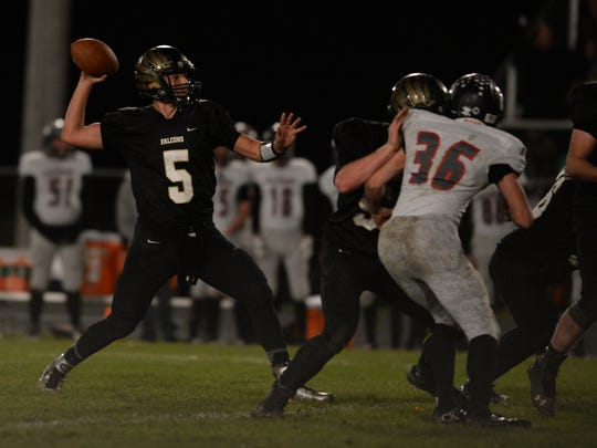 Winchester's Austin Lawrence moves the ball against
