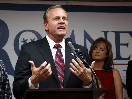 U.S. Rep. Stephen Fincher speaks at the Madison County Republican Party gathering at the All Suites Hotel in Jackson in this November 2012 file photo. Fincher won re-election to his 8th District seat.