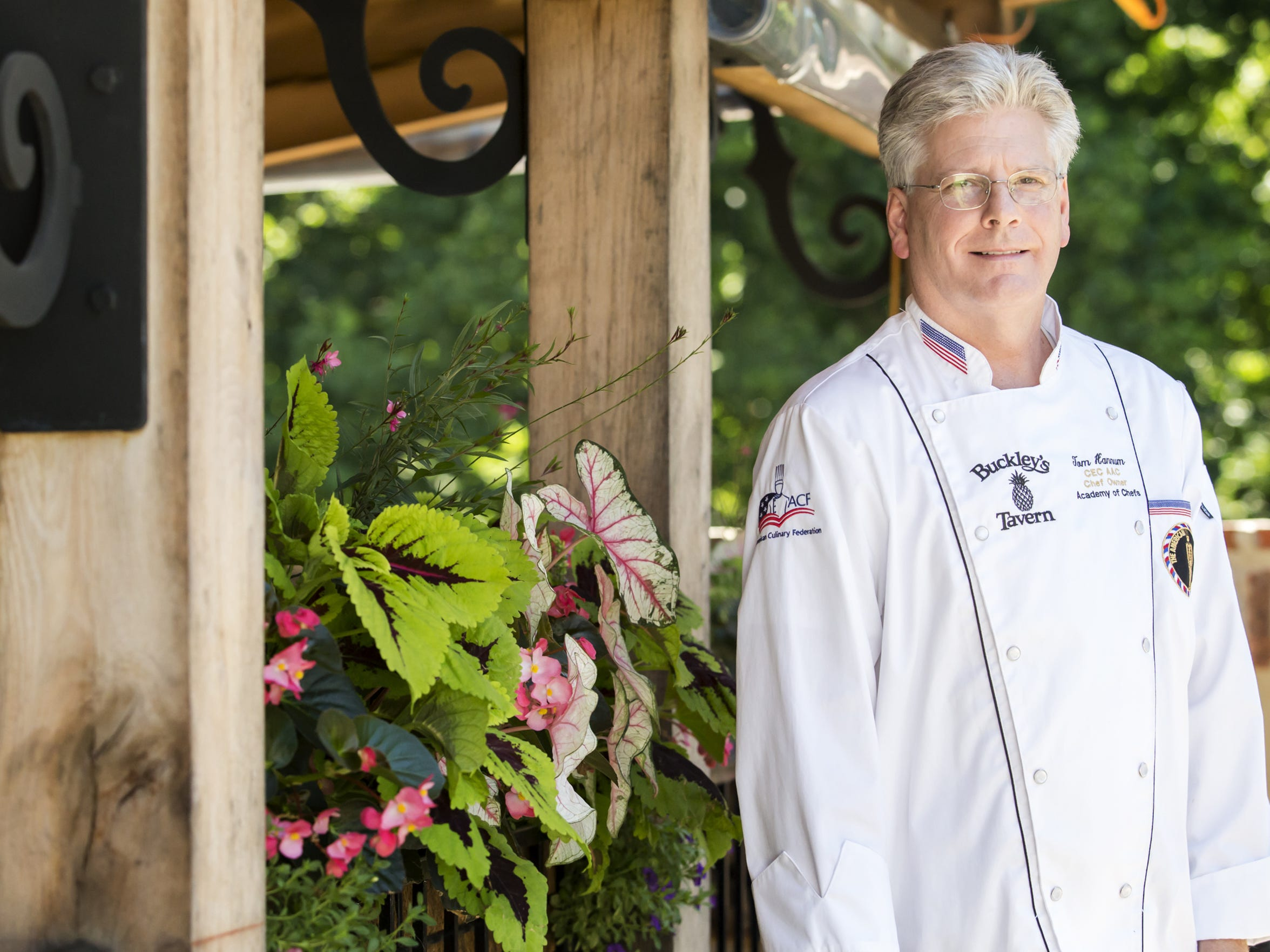 Buckley's Tavern chef and co-owner Tom Hannum poses