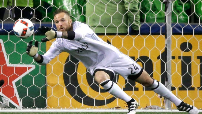 Seattle Sounders goalkeeper Stefan Frei leads the returning squad as the MLS champs return to training camp Tuesday.