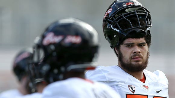 Oregon State offensive lineman Isaac Seumalo has started