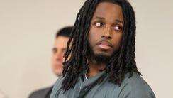 Jahmir Bouie is shown during his sentencing before