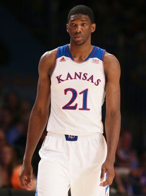 Joel Embiid stood out at Kansas for his huge potential.