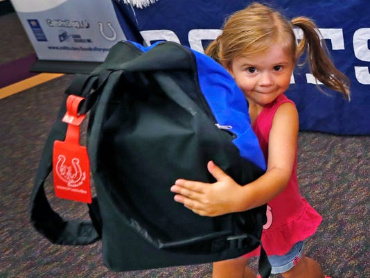 Foster Care book program brings a back pack of books to foster kids.