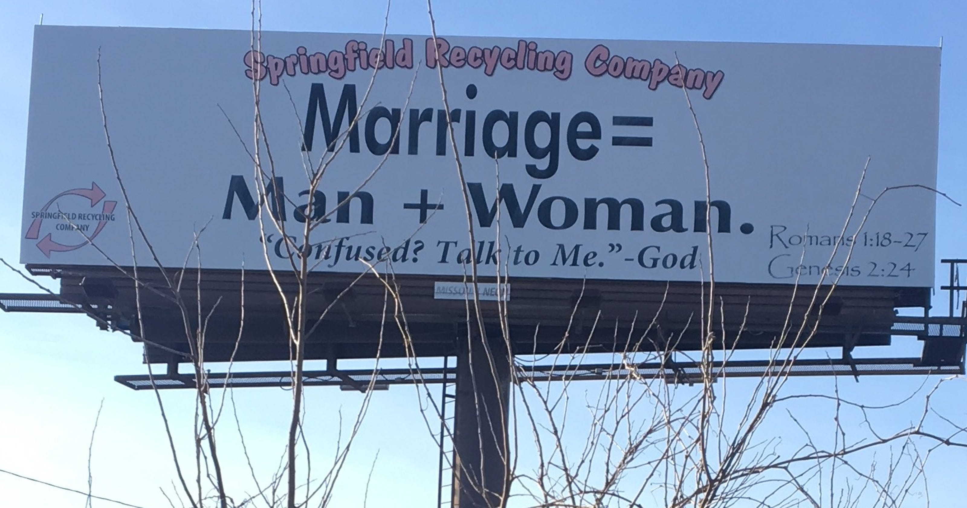 Answer Man: What\'s behind the billboard on marriage that is near I-44?