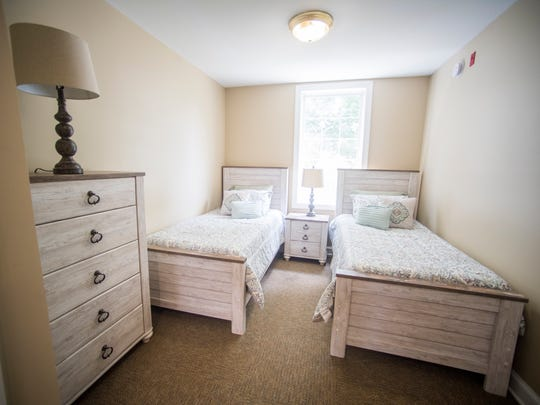 A bedroom inside Knox Area Rescue Ministry's newly