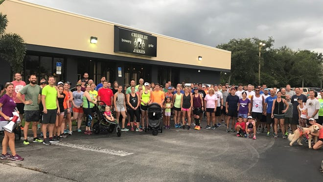 More than 100 runners and walkers braved the rain for last week's Summer Brewery Tour & Fun Run at Charlie & Jake's Brewery Grille in Suntree.