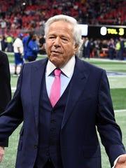 Patriots owner Robert Kraft pleaded not guilty on Thursday.