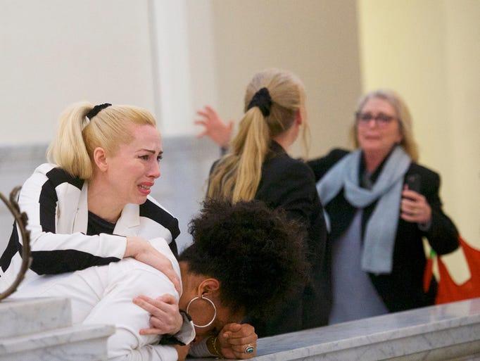 Bill Cosby accusers Caroline Heldman (left), Lili Bernard
