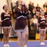 Maine-Endwell varsity compete Sunday at the STAC Cheerleading Championships at Union-Endicott High School.