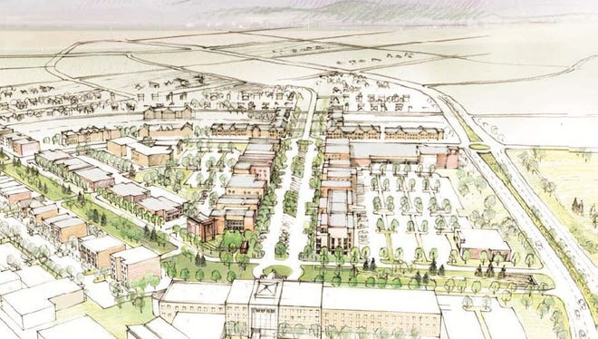 This sketch shows the potential look of the Mountain Vista subarea being considered by the city of Fort Collins.