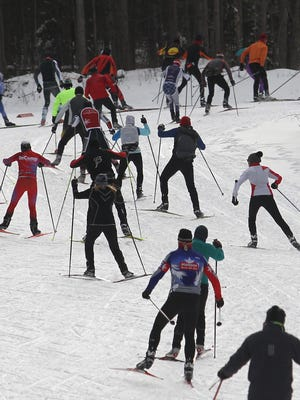 The Wausua Nordic Ski Club held its annual Snekkevik Ski Races at Nine Mile County Forest Recreation Area near Wausau, Saturday, January 10, 2015.