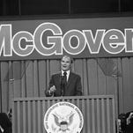 George McGovern at the Democratic National Convention in 1972.