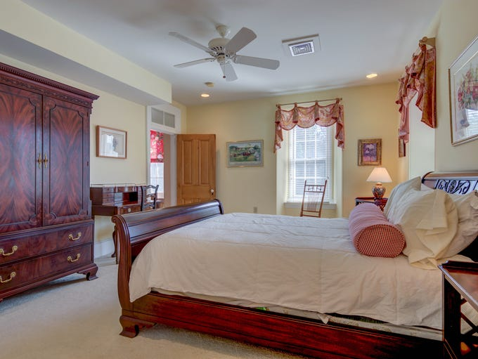 Five of the Greenville house's six bedrooms are on