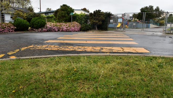 A crosswalk near an elementary school. STAR FILE PHOTO