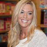 "Kate Gosselin promotes the new book ""Love Is In The Mix: Making Meals Into Memories With Family-Friendly Recipes, Tips And Traditions"" at Barnes & Noble Staten Island on September 24, 2013 in New York City."