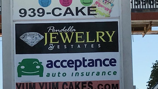 Pondella Jewelry's sign is still at Winker and Cleveland Avenues, but the store and Mrs. Shannon's ring are gone.