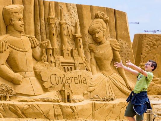 Disney Sand Magic sand sculpture festival in Ostende
