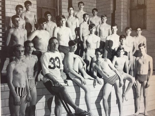 The 1968 Charlotte High School swim team. The school