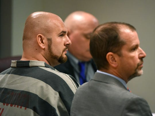 Colby Shane Cannon, left, and his attorney Robert Kurtz