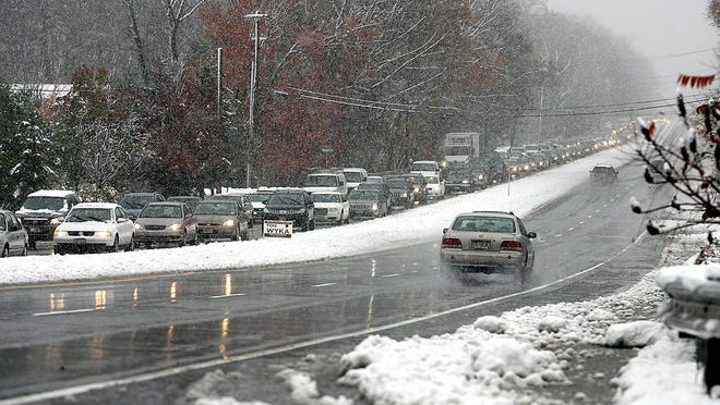 Rain and snow could make this evening's commute slow in Morris County.