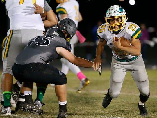 Parkview's Blake Delacruz advances the ball for another