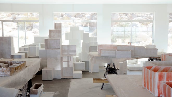"""Andrea Zittel's """"Aggregated Stacks"""" was part of the Palm Springs Art Museum Architecture and Design Center's exhibit """"Eye on Design: Andrea Zittel's Aggregated Stacks and the Collection of Palm Springs Art Museum."""""""