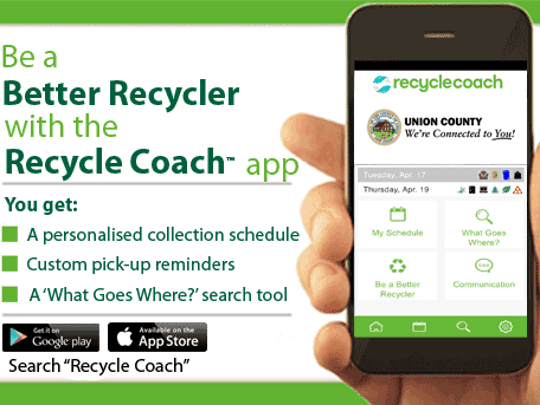 The Union County Board of Chosen Freeholders has announced the launch of the free app, Recycle Coach.
