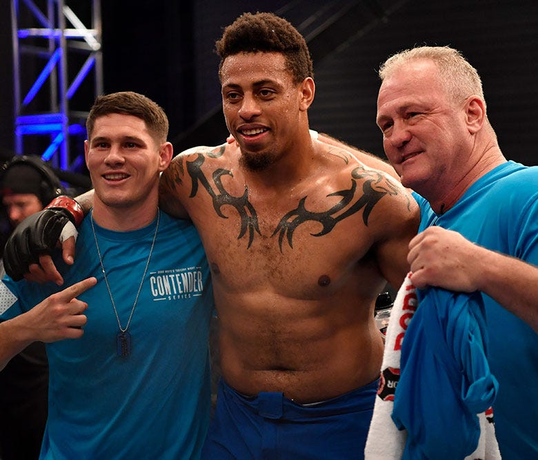 Greg Hardy was a winner in his professional debut in MMA.