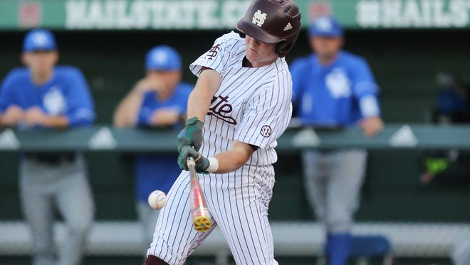 Mississippi State's Cody Brown continued his hot streak at the plate against Kentucky.