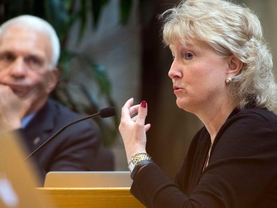 School board member Lynne Fugate during the school