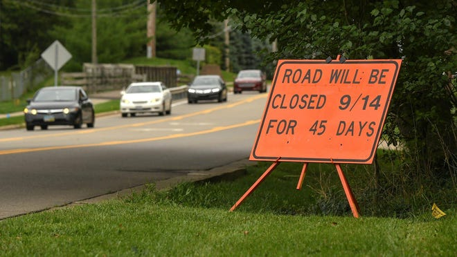 East Maple Street in North Canton is set for 45-day road closure beginning Sept. 14 for construction around the bridge spanning the Nimishillen Creek that sits between the North Canton Church of Christ and Walsh University.
