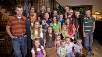 The Duggar family from TLC's '19 and Counting,' in 2009.