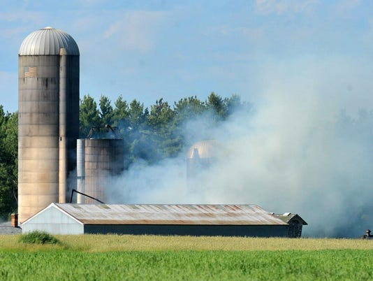 WDH Barn fire Weston