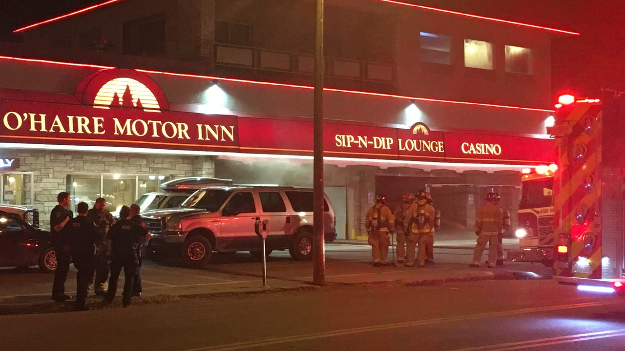 A man has been arrested on arson charges after a Tuesday night fire at the O'Haire Motor Inn in downtown Great Falls.