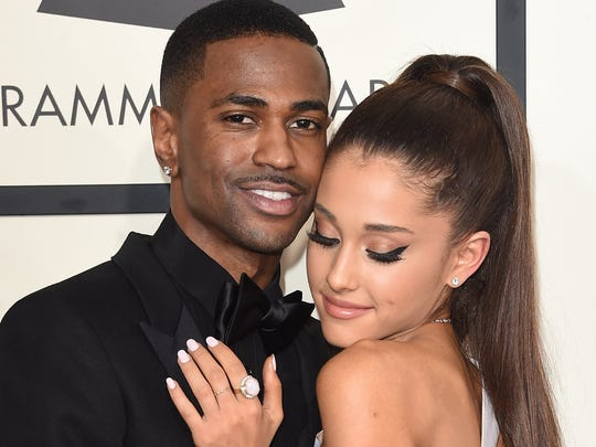 Big Sean and girlfriend Ariana Grande at the Grammy Awards on Feb. 8.