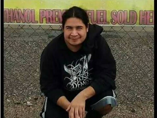 """Alex """"Tank"""" Vasquez has been missing from Kyle, SD,"""