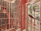 The wine cellar at 115 Wood Sage Court in Sunset. Listed