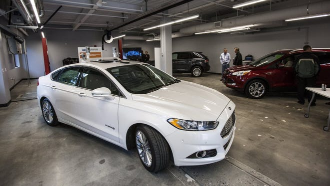 Ford's Fusion Autonomous Research Vehicle was recently on display at the company's R&D facility in Palo Alto, Calif.