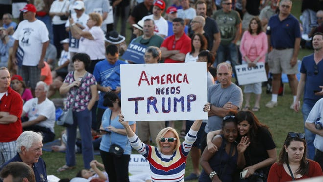 A Donald Trump campaign rally in Boca Raton, Fla., on March 13, 2016.