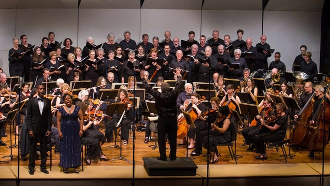 Shenandoah Valley Bach Festival Orchestra and Choir soloists performing in 2015.