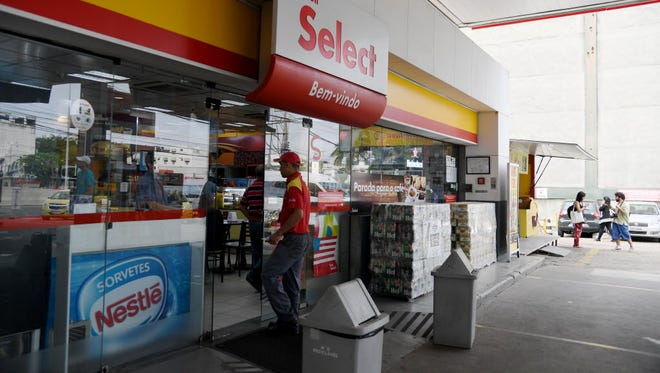 A general view of a Shell gasoline station where U.S. Olympic swimmer Ryan Lochte claims to have been robbed. Rio de Janeiro police say that the Lochte and three other swimmers lied about the incident and instead vandalized a sign at the station.