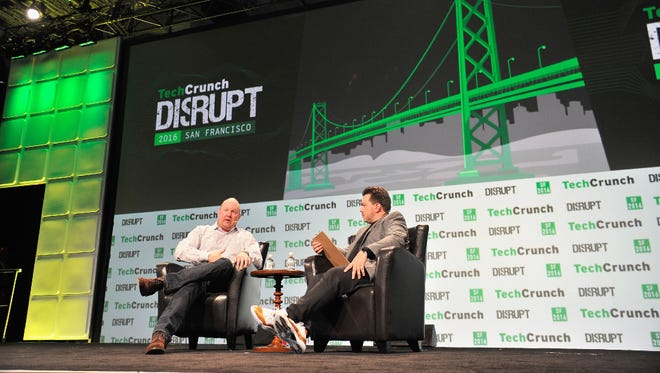 Tech investor Marc Andreessen took the stage Tuesday at TechCrunch Disrupt in San Francisco.
