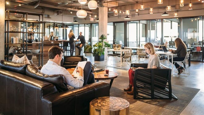 Coworking space Industrious, shown here at its Atlanta location, announced it would launch in Indianapolis on Mass Ave.