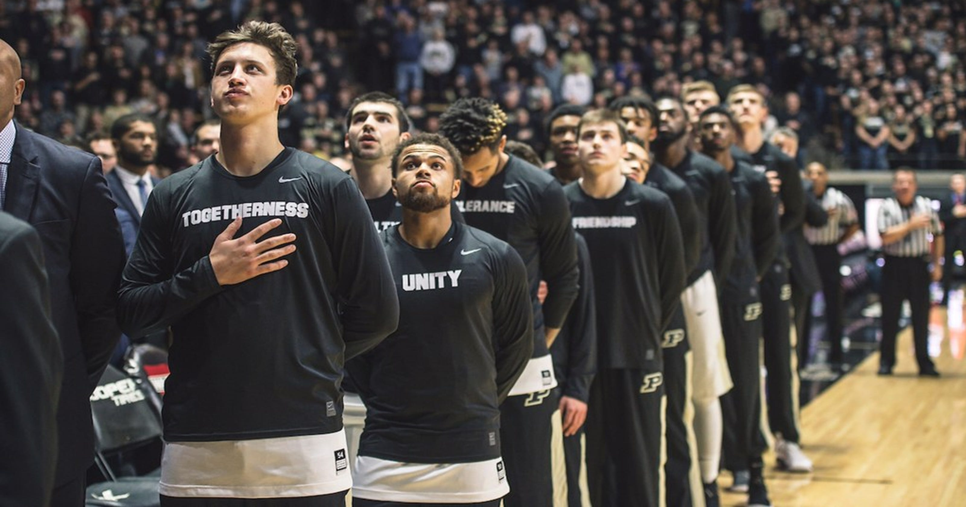 Purdue Basketball Players Send Message Of Unity With Shooting Shirts