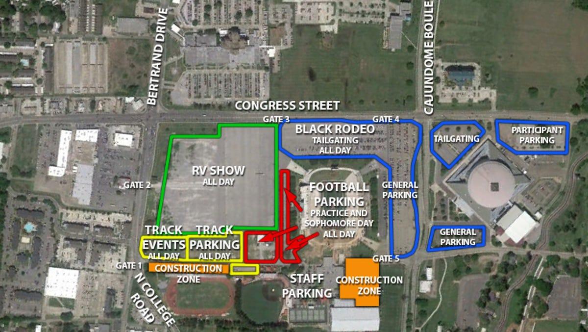 slcc lafayette campus map Ul Announces Parking Changes For Cajun Field Weekend Events