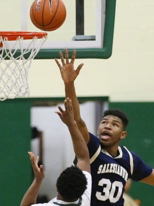 Salesianum's Tariq Ingraham (30) was one of three freshmen to lead the way as the Sals defeated Red Lion in DIAA playoff action Wednesday.