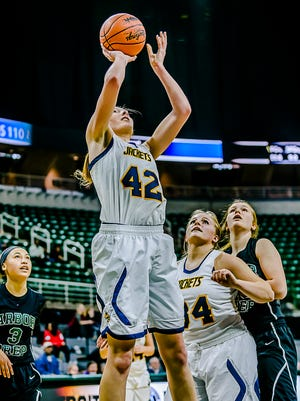 Ithaca's Kayla Belles signed with the Michigan State women's basketball program Wednesday.