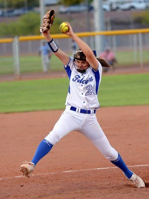 Nic Conway strikes out the first 12 batters she faces, leading Catalina Foothills to 7-1 win over Douglas in the Division III state softball tournament.